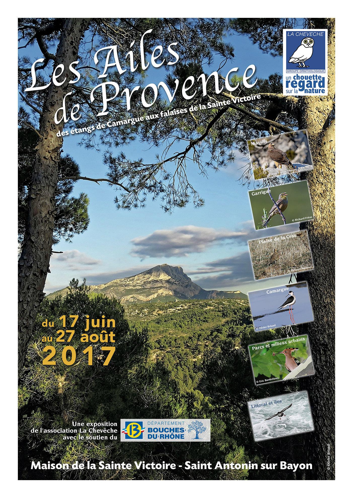 Affiche de l'Exposition photos à la Maison de la Sainte Victoire